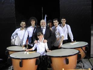 il Maestro di Mele e i percussionisti